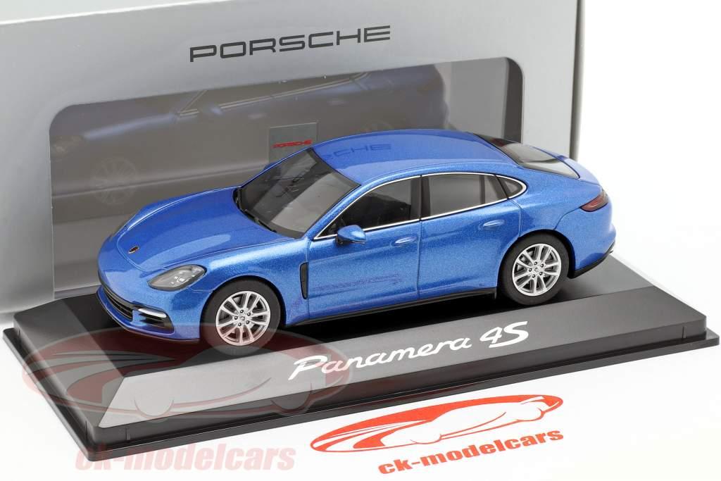 Porsche Panamera 4S (2. Gen.) Ano 2016 safira azul metálico 1:43 Herpa