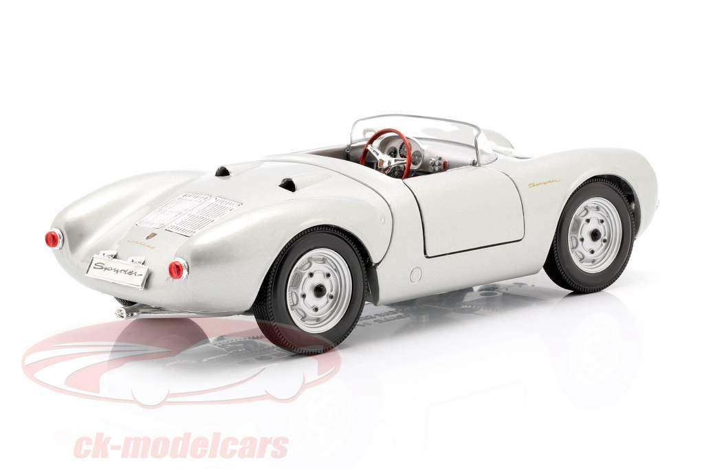 Porsche 550 A Spyder Anno 1950 argento 1:18 Maisto
