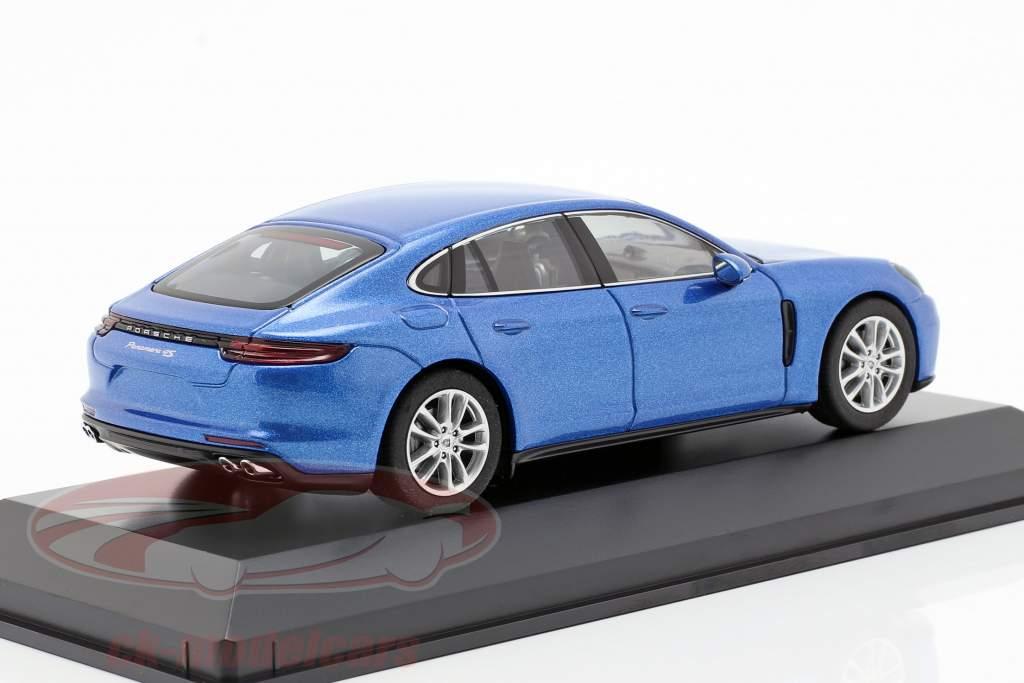 Porsche Panamera 4S (2. Gen.) Bouwjaar 2016 saffier blauw metalen 1:43 Herpa