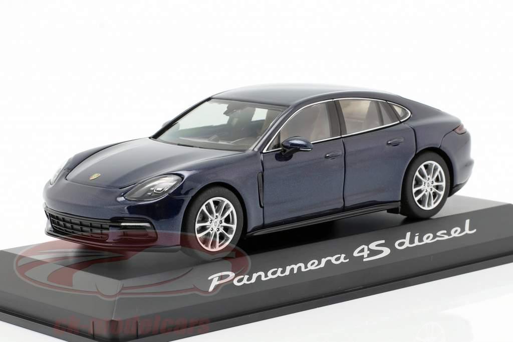 Porsche Panamera 4S diesel (2. Gen.) Año 2016 noche azul metálico 1:43 Herpa