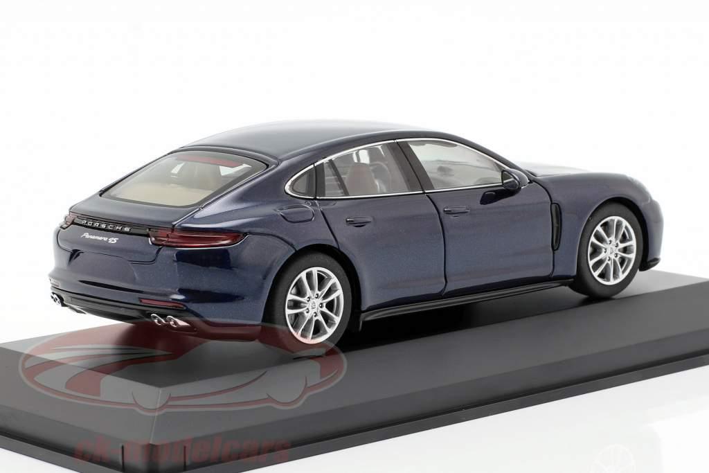 Porsche Panamera 4S diesel (2. Gen.) Baujahr 2016 nachtblau metallic 1:43 Herpa