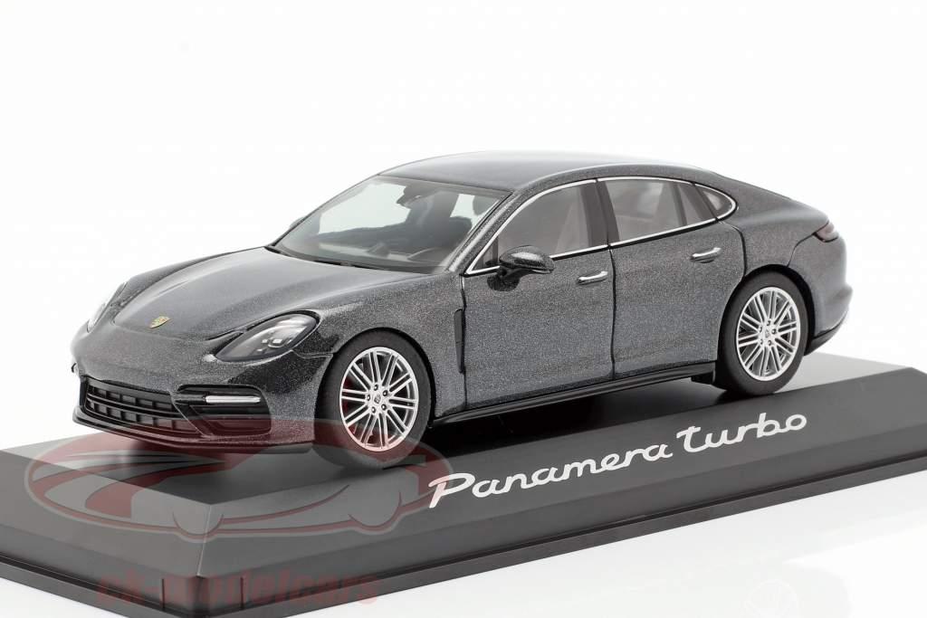 Porsche Panamera Turbo (2. Gen.) Baujahr 2016 vulkan grau metallic 1:43 Herpa