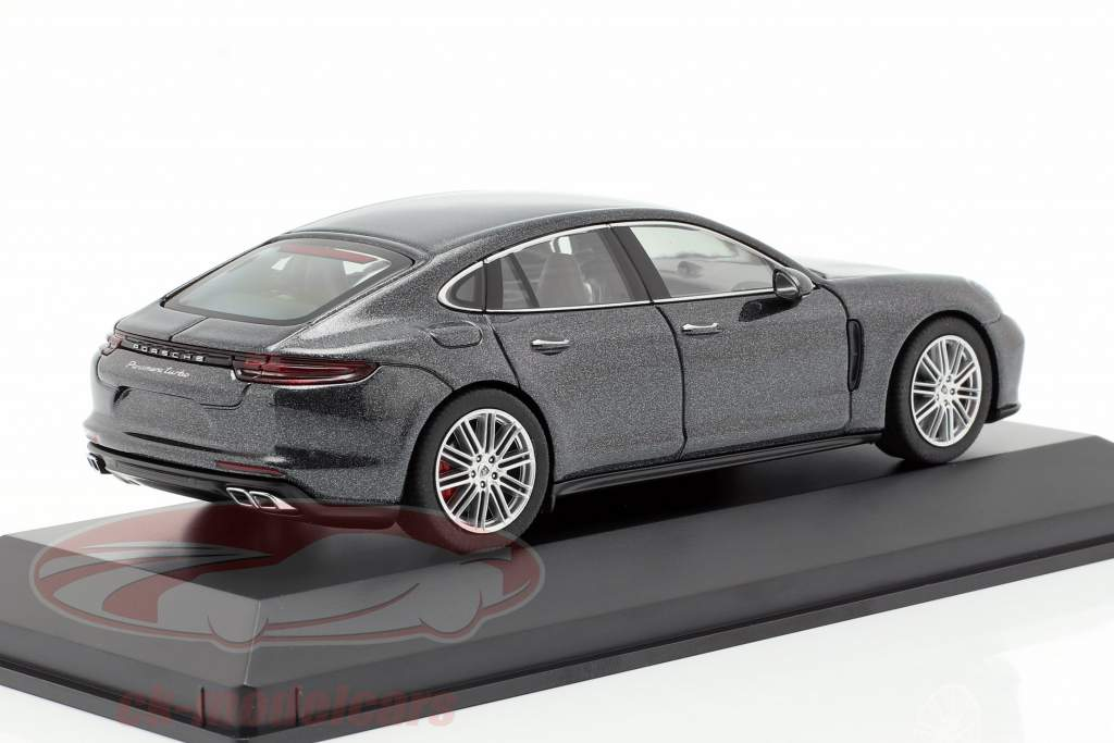 Porsche Panamera Turbo (2. Gen.) year 2016 volcano Gray metallic 1:43 Herpa