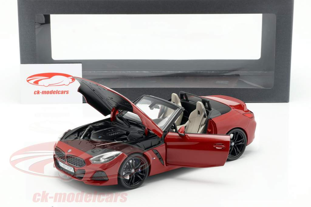 BMW Z4 (G29) year 2019 San Francisco red 1:18 Norev