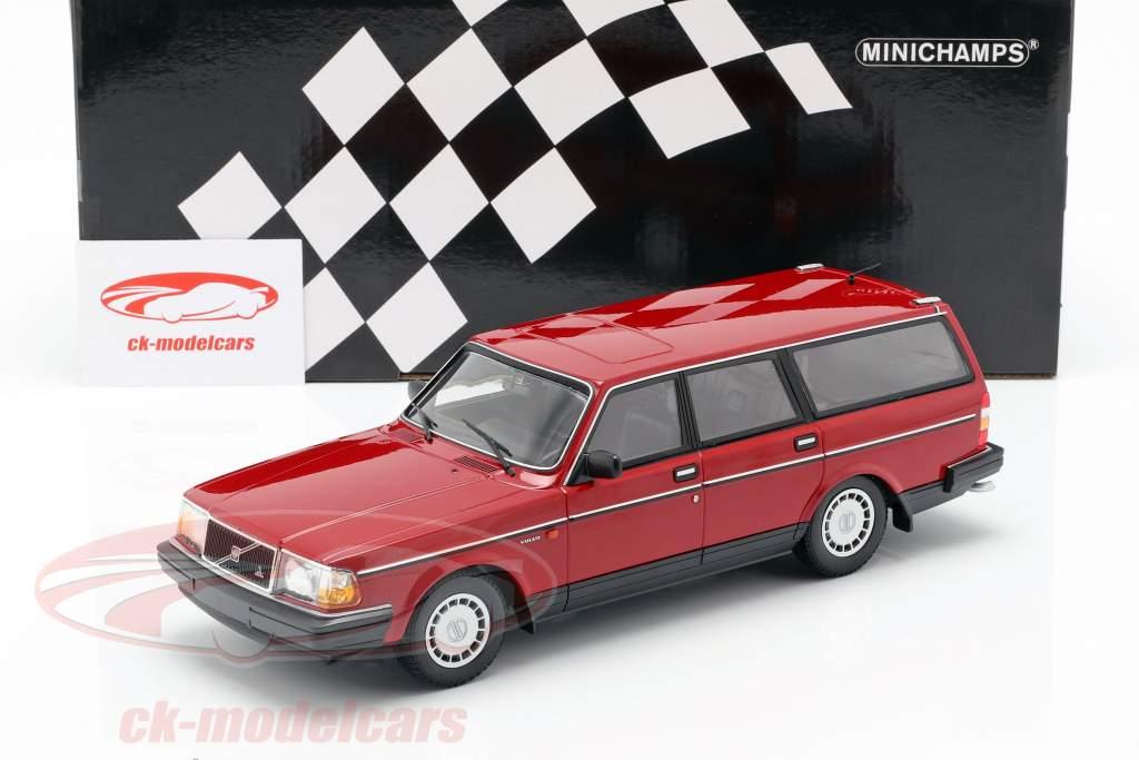 Volvo 240 GL Break ano de construção 1986 vermelho 1:18 Minichamps