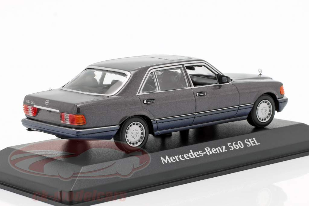 Mercedes-Benz 560 SEL (W126) year 1990 violet metallic 1:43 Minichamps