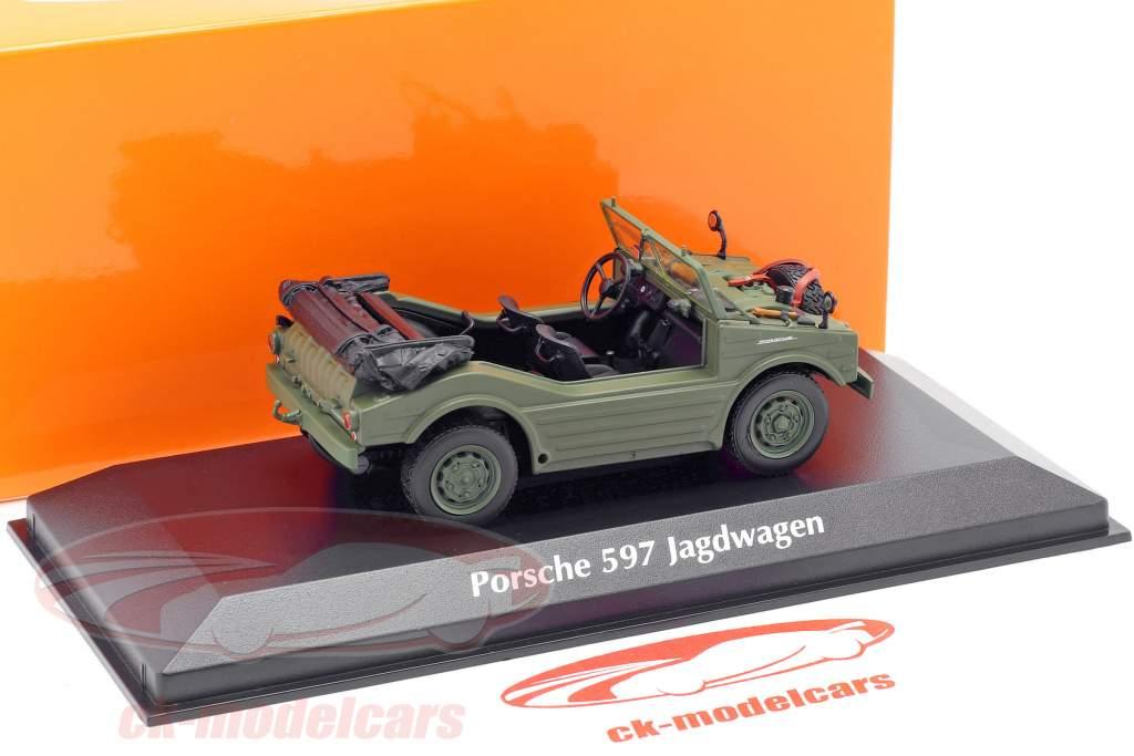 Porsche 597 caccia auto anno di costruzione 1954 oliva 1:43 Minichamps