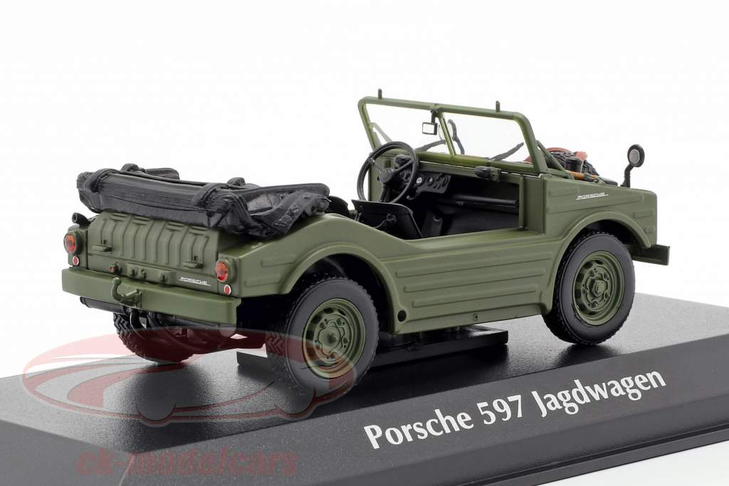 Porsche 597 Hunting Car year 1954 olive 1:43 Minichamps