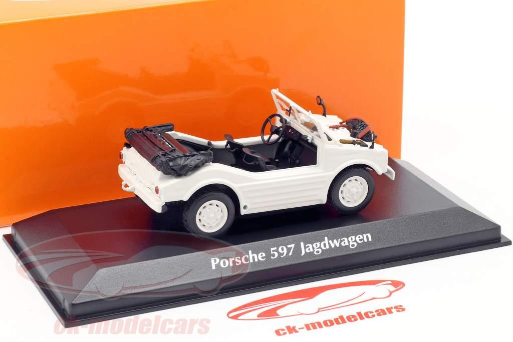 Porsche 597 Jagdwagen Baujahr 1954 weiß 1:43 Minichamps