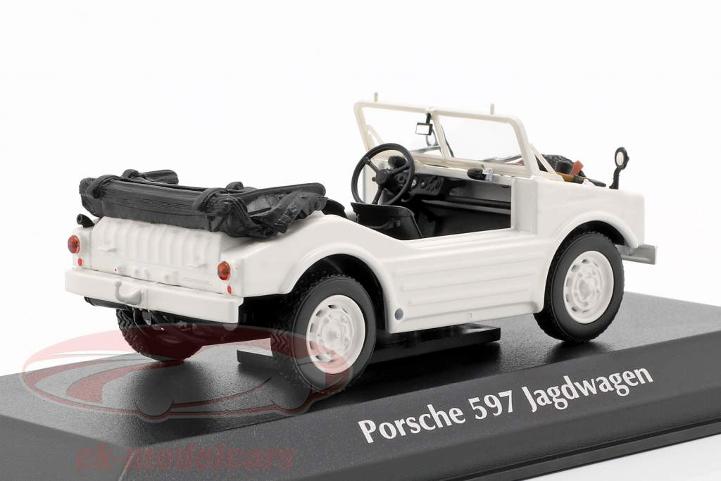 Porsche 597 jacht auto Bouwjaar 1954 wit 1:43 Minichamps