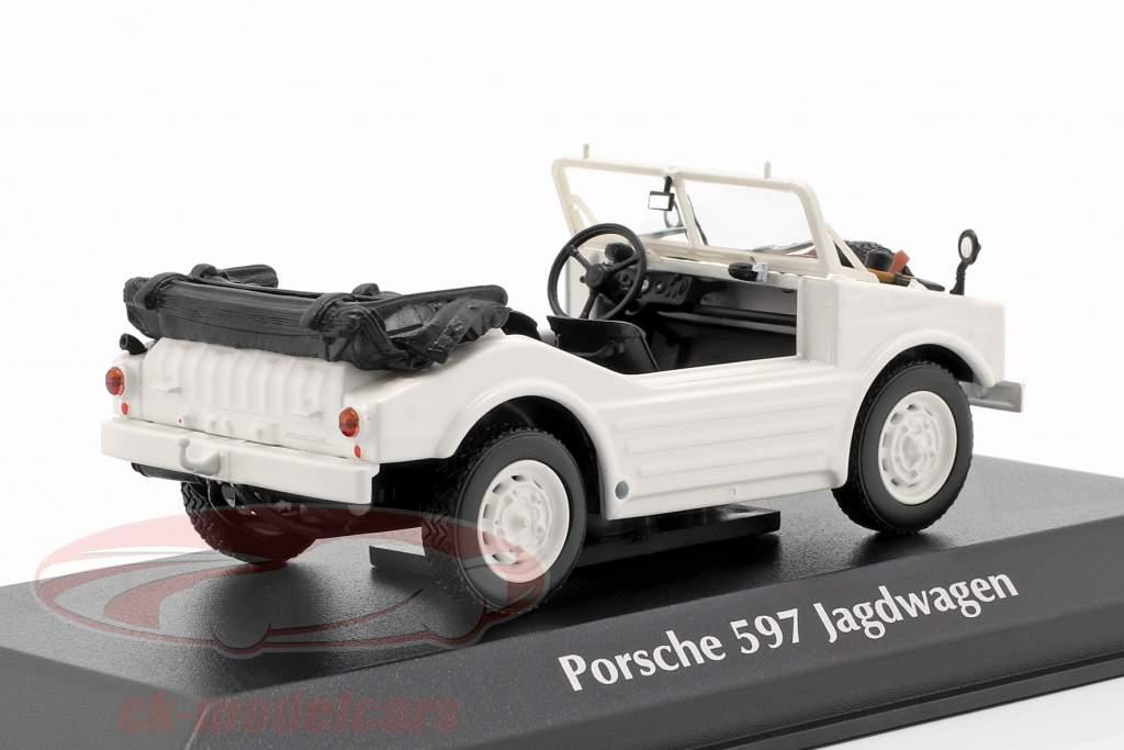 Porsche 597 jagt bil Opførselsår 1954 hvid 1:43 Minichamps