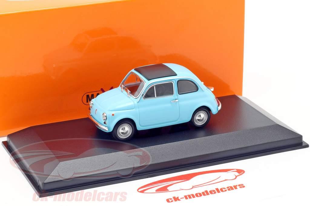 Fiat 500 L Opførselsår 1965 lyseblå 1:43 Minichamps