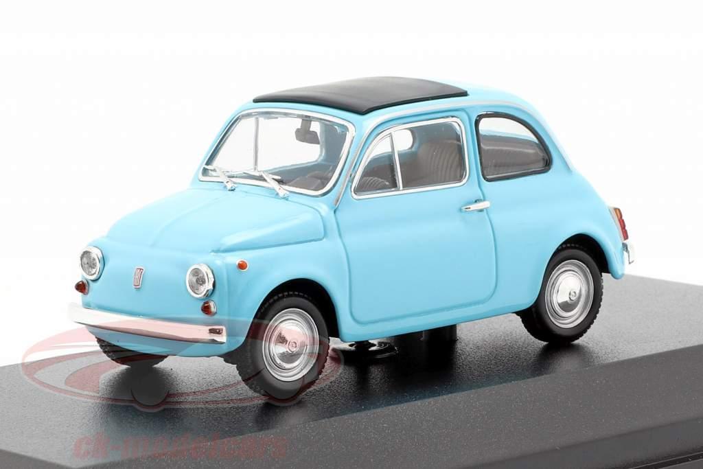 Fiat 500 L Bouwjaar 1965 lichtblauw 1:43 Minichamps