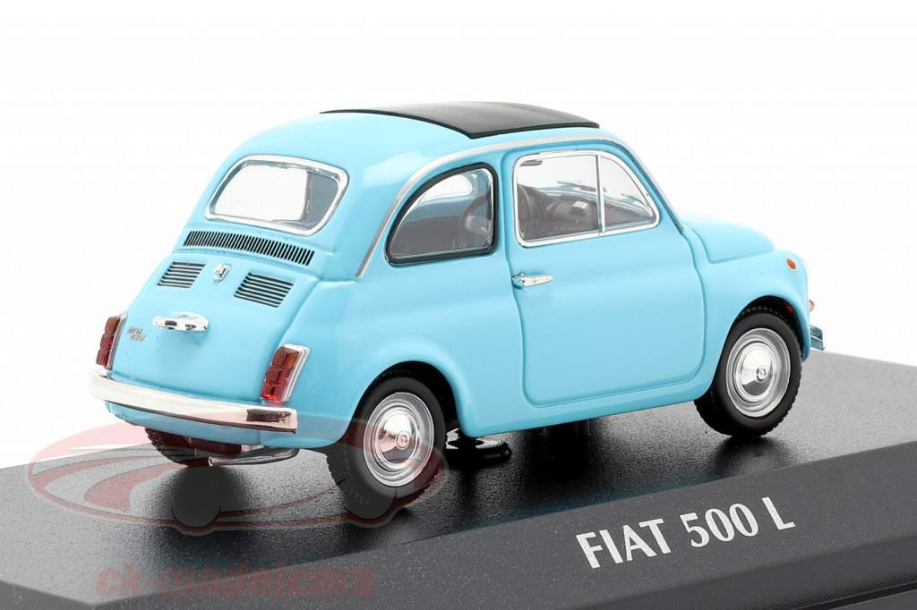 Fiat 500 L ano de construção 1965 azul claro 1:43 Minichamps