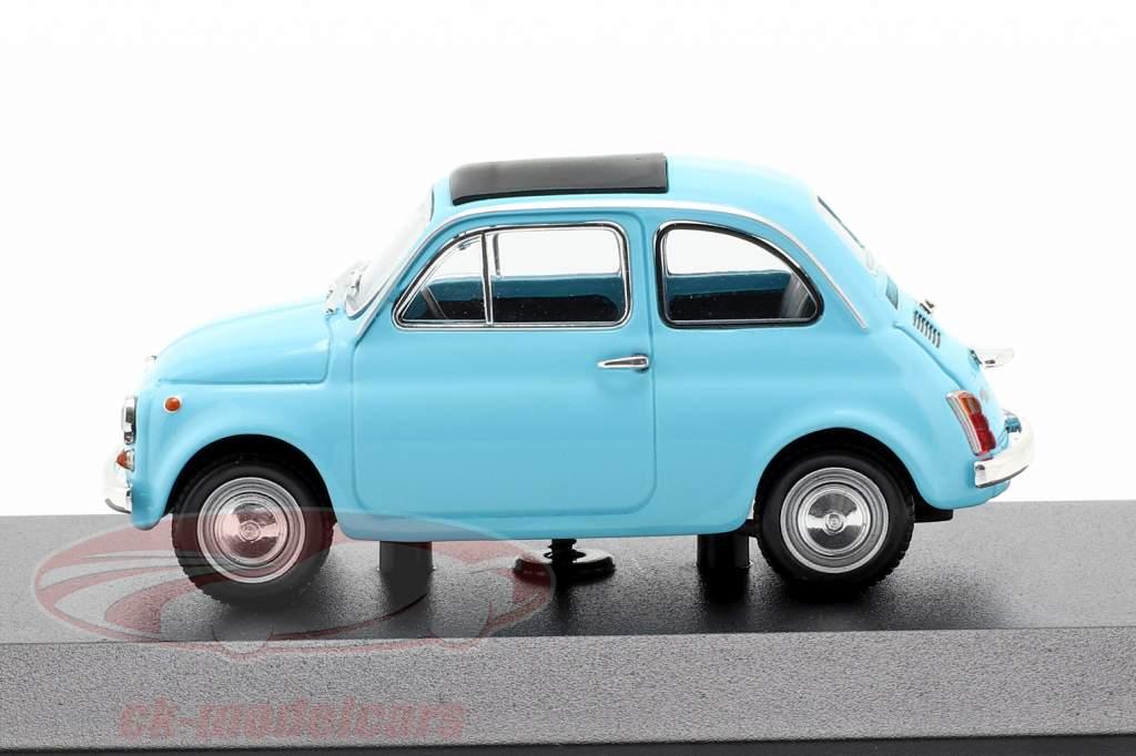 Fiat 500 L año de construcción 1965 azul claro 1:43 Minichamps