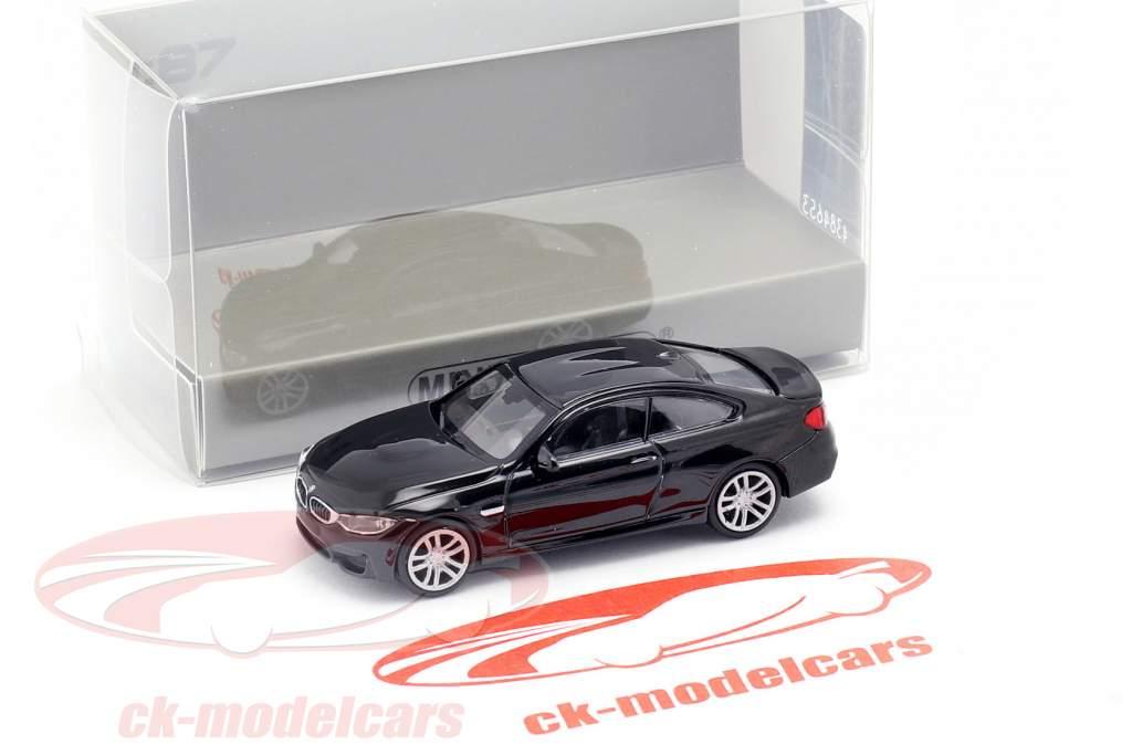 BMW M4 coupe año de construcción 2015 negro metálico 1:87 Minichamps