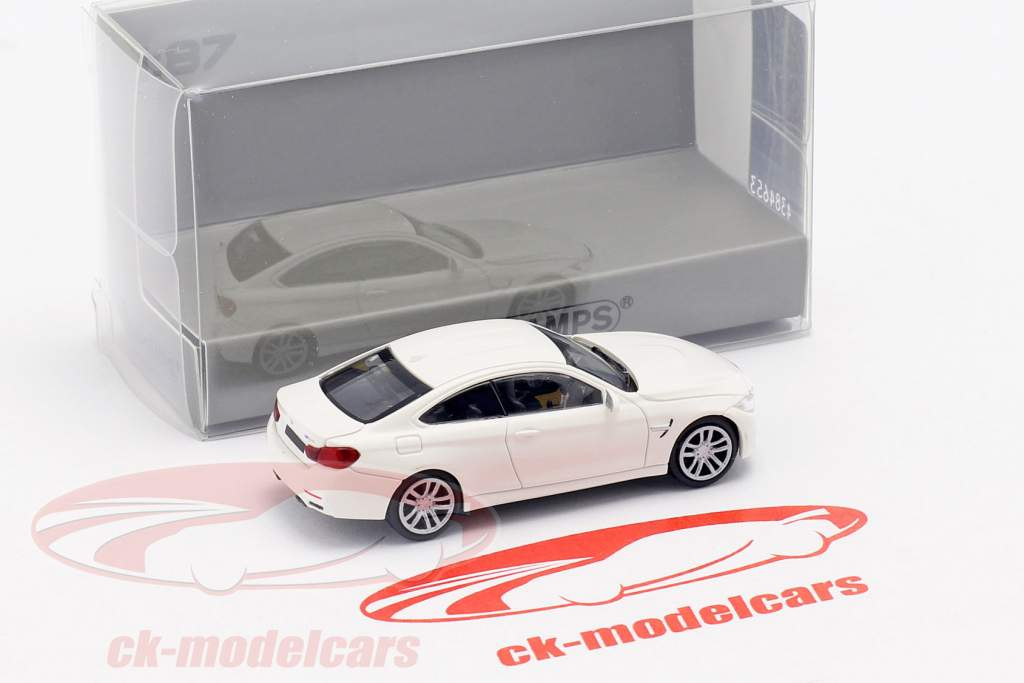 BMW M4 coupe anno di costruzione 2015 bianco 1:87 Minichamps