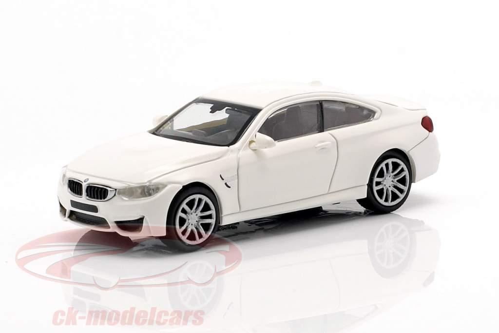 BMW M4 coupe ano de construção 2015 branco 1:87 Minichamps