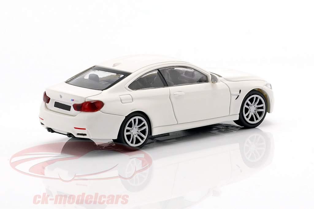 BMW M4 coupé année de construction 2015 blanc 1:87 Minichamps