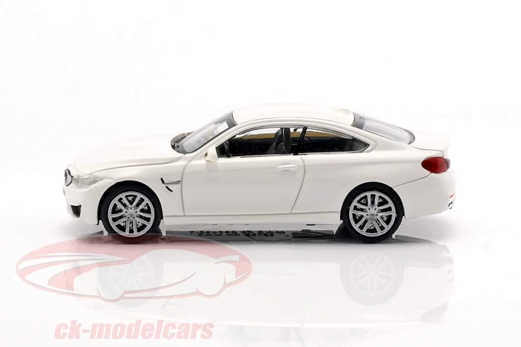 BMW M4 Coupe Baujahr 2015 weiß 1:87 Minichamps