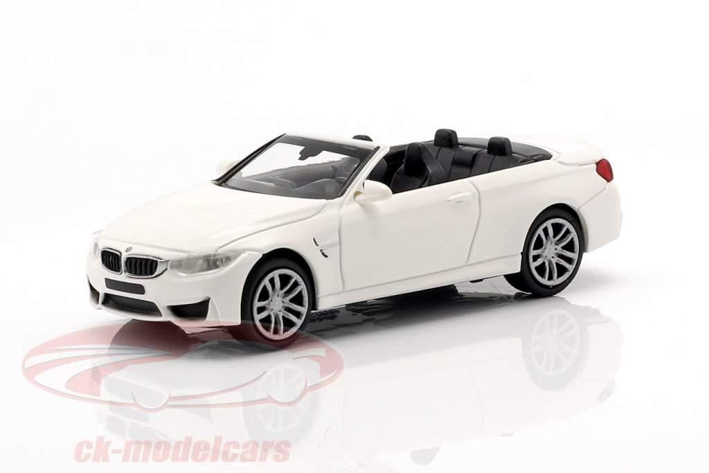 BMW M4 cabriolet année de construction 2015 blanc 1:87 Minichamps
