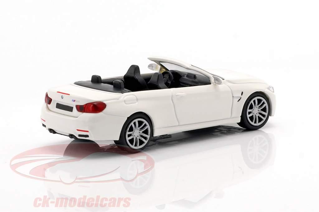 BMW M4 Cabriolet year 2015 white 1:87 Minichamps
