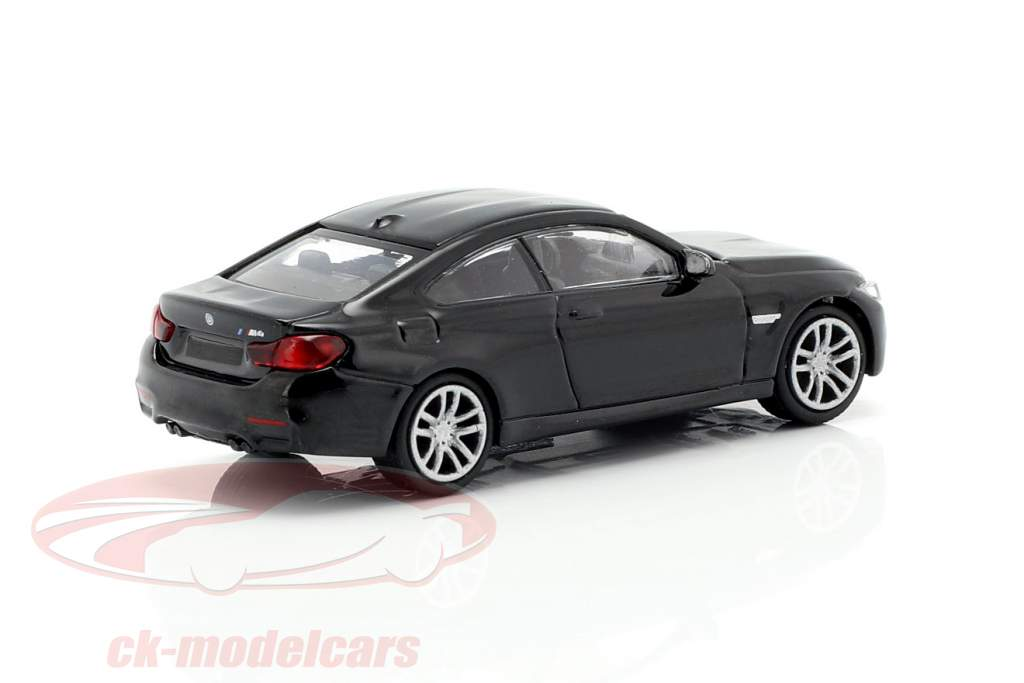 BMW M4 coupe ano de construção 2015 preto metálico 1:87 Minichamps