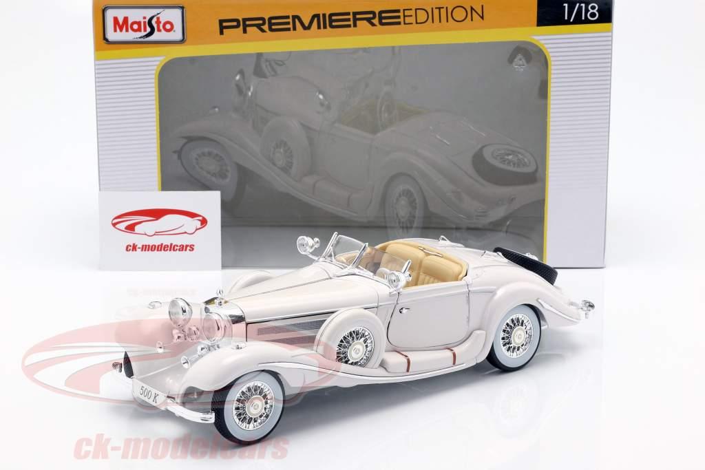 Mercedes Benz 500 K Specialroadster Bj. 1936 weiß 1:18 Maisto