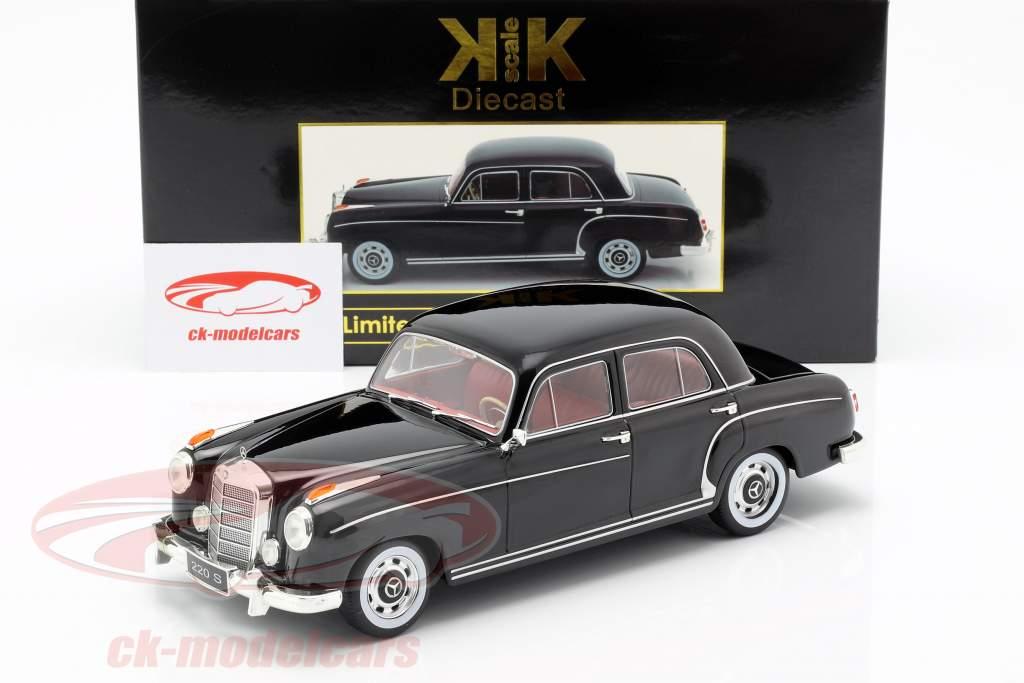 Mercedes-Benz 220 S sedán (W180II) año de construcción 1956 negro 1:18 KK-Scale