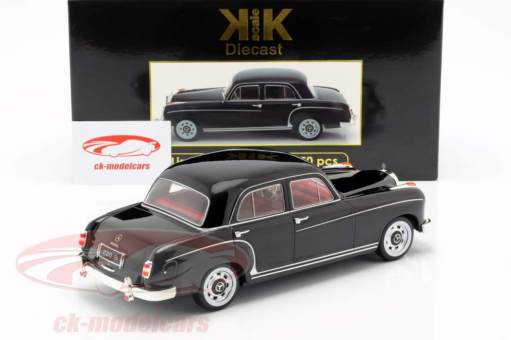 Mercedes-Benz 220 S sedan (W180II) Opførselsår 1956 sort 1:18 KK-Scale