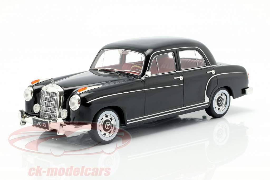 Mercedes-Benz 220 S sedan (W180II) Bouwjaar 1956 zwart 1:18 KK-Scale