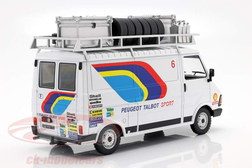 Citroen C35 Peugeot Talbot Sport Rallye Assistance ano de construção 1985 branco 1:18 Ixo