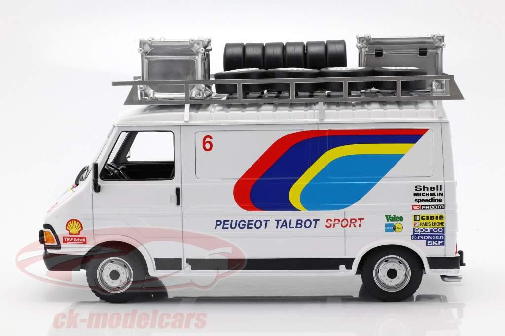 Citroen C35 Peugeot Talbot Sport Rallye Assistance year 1985 white 1:18 Ixo