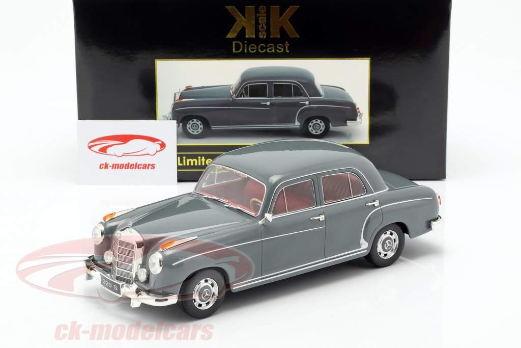 Mercedes-Benz 220 S sedán (W180II) año de construcción 1956 gris 1:18 KK-Scale