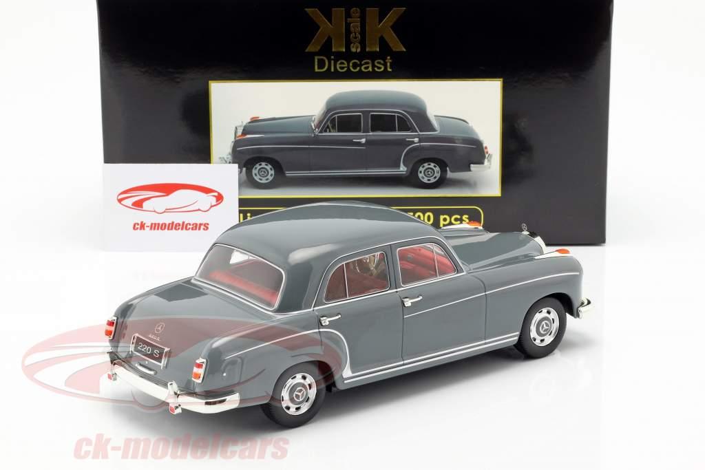 Mercedes-Benz 220 S sedan (W180II) Bouwjaar 1956 grijs 1:18 KK-Scale