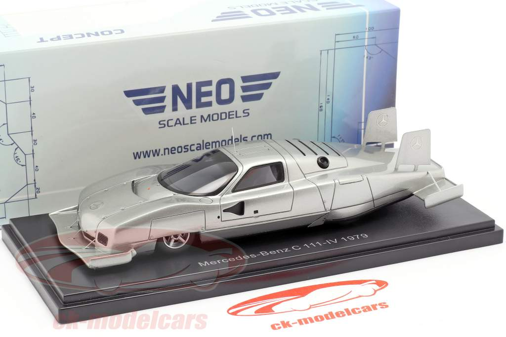 Mercedes-Benz C111-IV Concept Car 1979 sølv 1:43 Neo