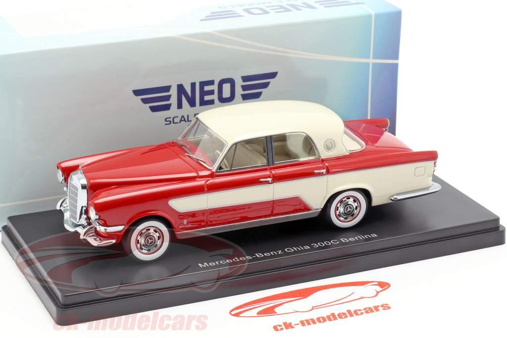 Mercedes-Benz Ghia 300C Berlina año de construcción 1956 rojo / beige 1:43 Neo