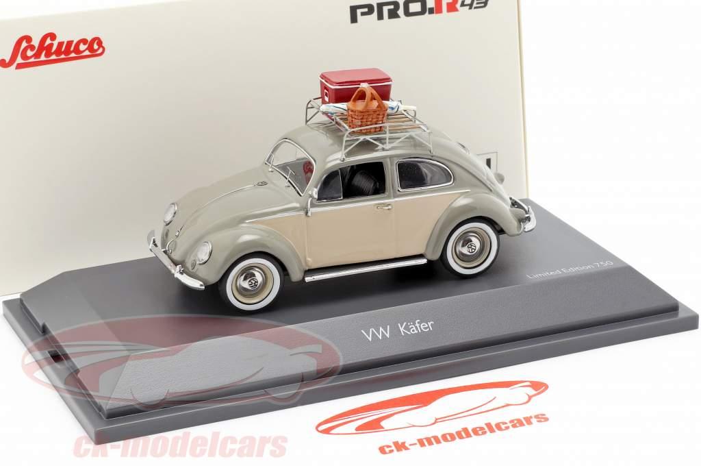 Volkswagen VW scarafaggio Ovali picnic grigio / beige 1:43 Schuco