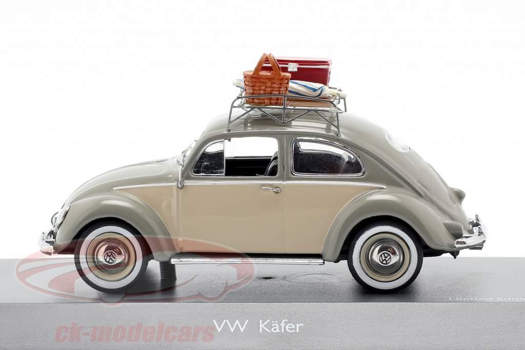 Volkswagen VW escarabajo Ovali picnic gris / beige 1:43 Schuco