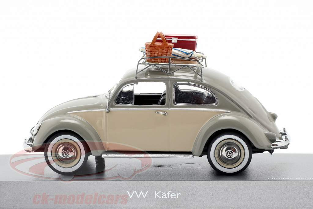 Volkswagen VW Käfer Ovali Picknick grau / beige 1:43 Schuco