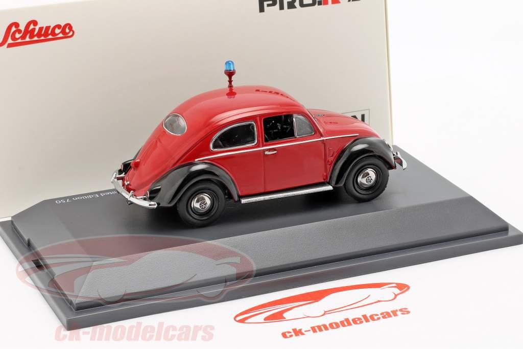 Volkswagen VW Beetle Ovali Fire Department red / black 1:43 Schuco