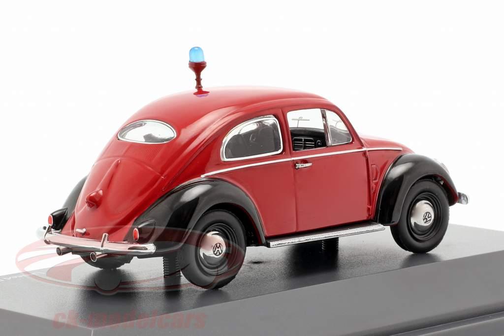Volkswagen VW escarabajo Ovali departamento de bomberos rojo / negro 1:43 Schuco