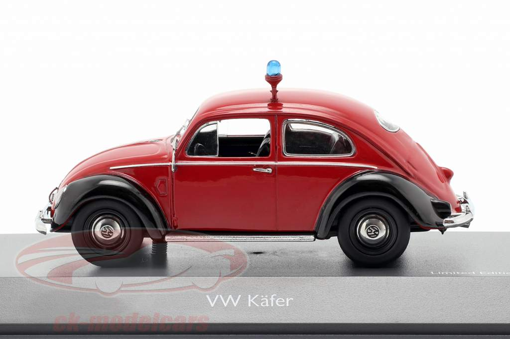 Volkswagen VW bille Ovali brandvæsen rød / sort 1:43 Schuco