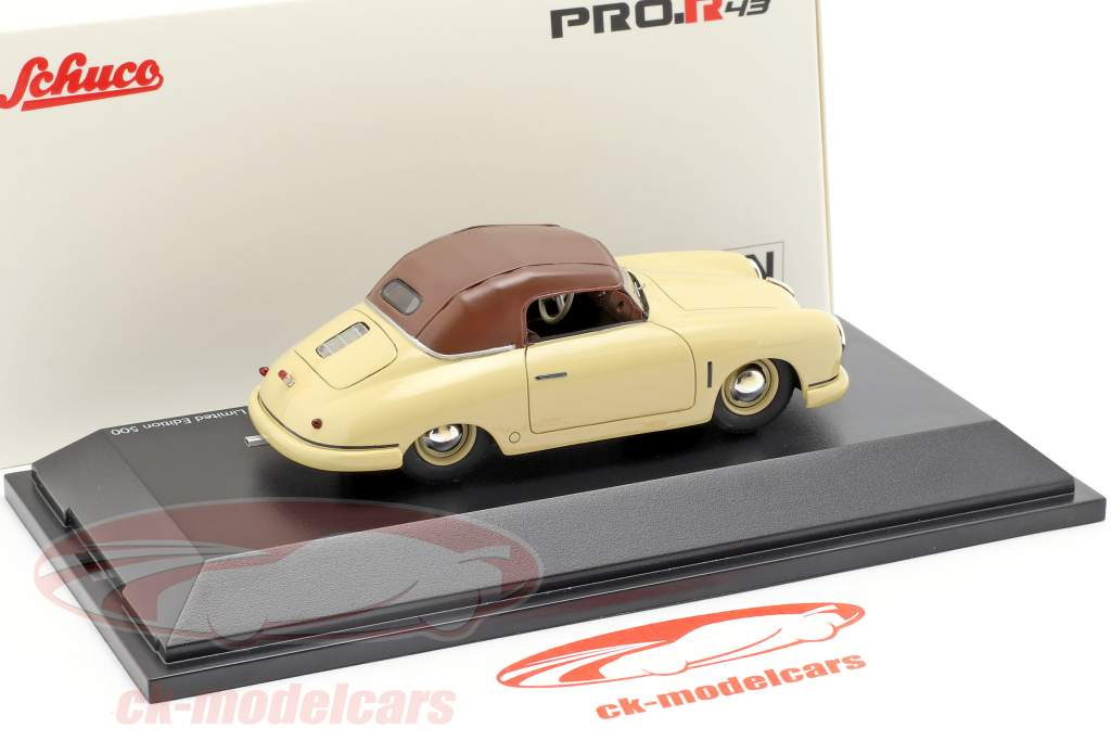 Porsche 356 Gmünd Cabriolet Closed Top beige / brown 1:43 Schuco