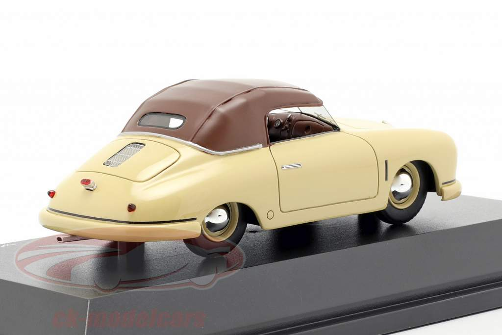 Porsche 356 Gmünd cabriolé Closed Top beige / marrón 1:43 Schuco