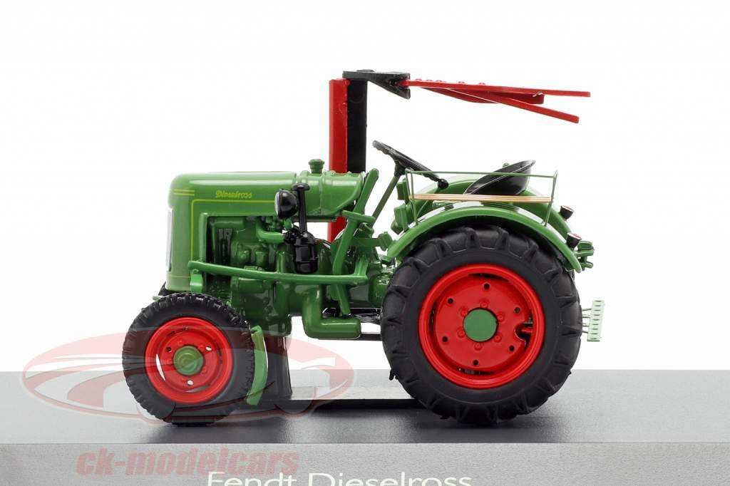 Fendt F20G Dieselross tractor con Barra de corte verde 1:43 Schuco