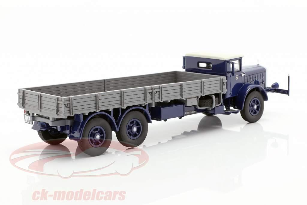 Mercedes-Benz L 10000 caminhão de plataforma ano de construção 1937 azul escuro / cinza 1:43 Neo
