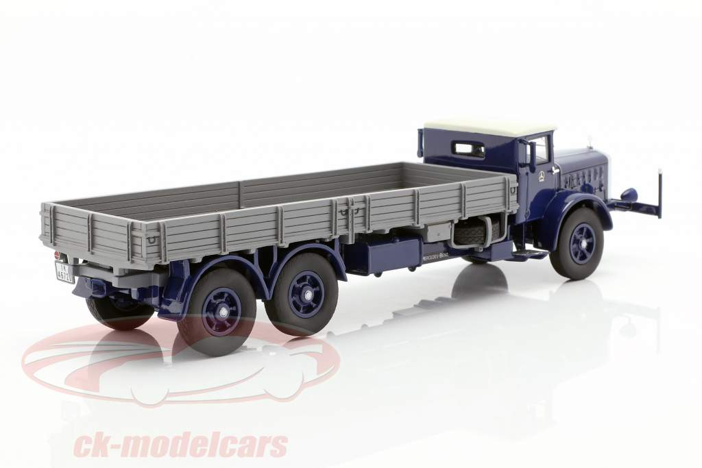 Mercedes-Benz L 10000 platform truck year 1937 dark blue / grey 1:43 Neo