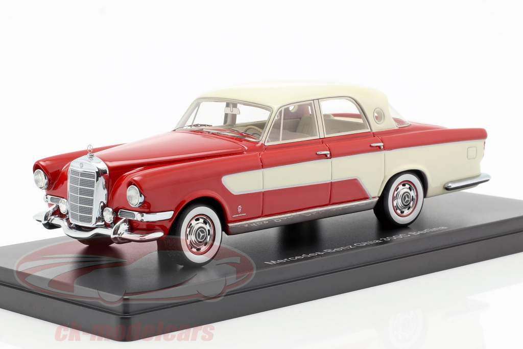 Mercedes-Benz Ghia 300C Berlina ano de construção 1956 vermelho / bege 1:43 Neo