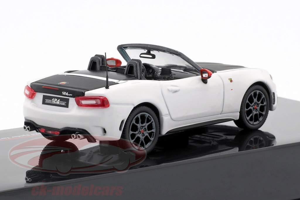Fiat Abarth 124 Spider Turismo year 2017 white / black 1:43 Ixo